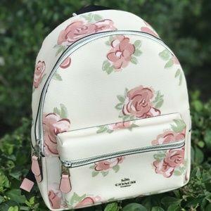 Coach MD Charlie Backpack Chalk Petal Jumbo Floral
